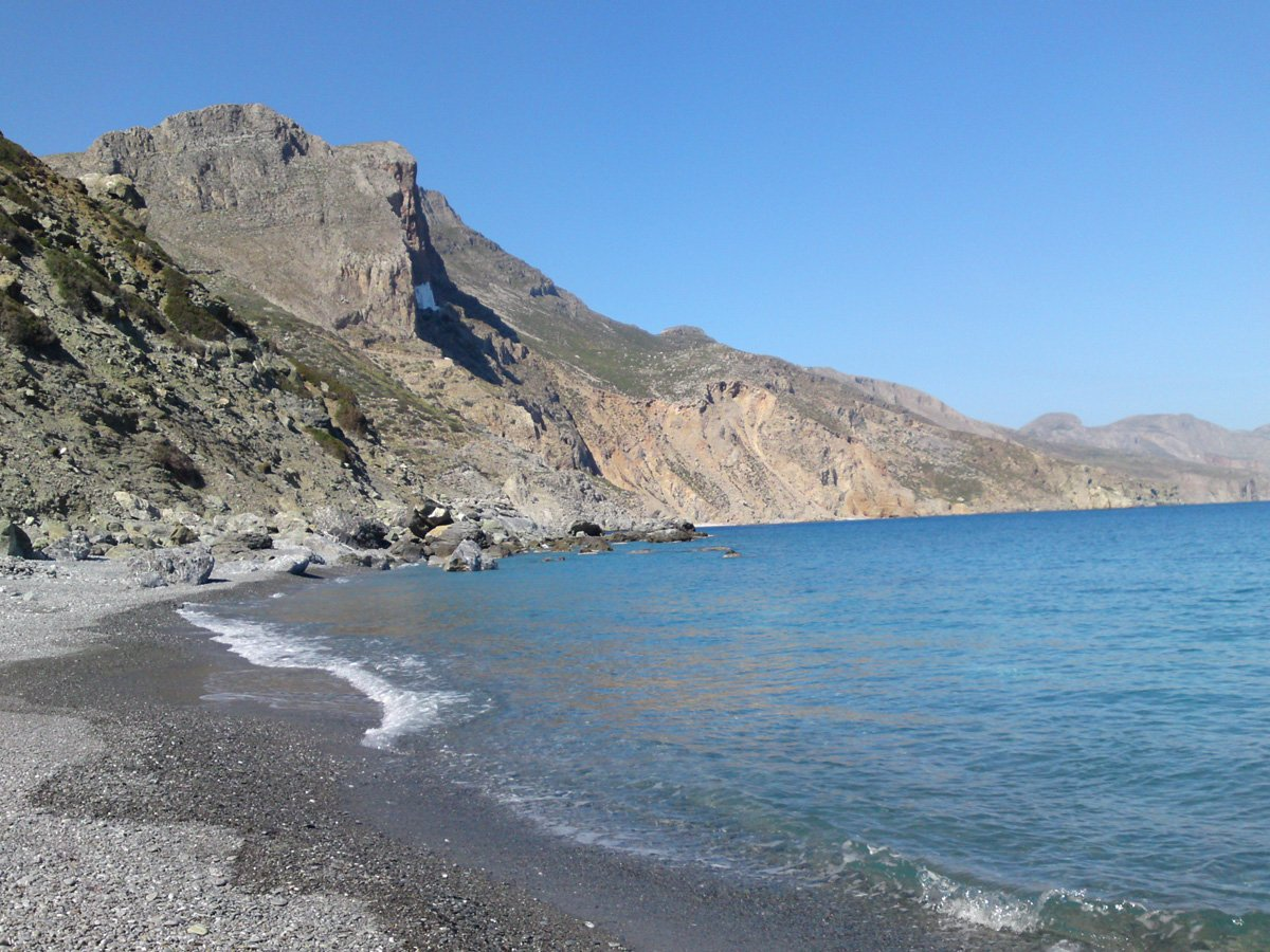 Kambi beach on Amorgos