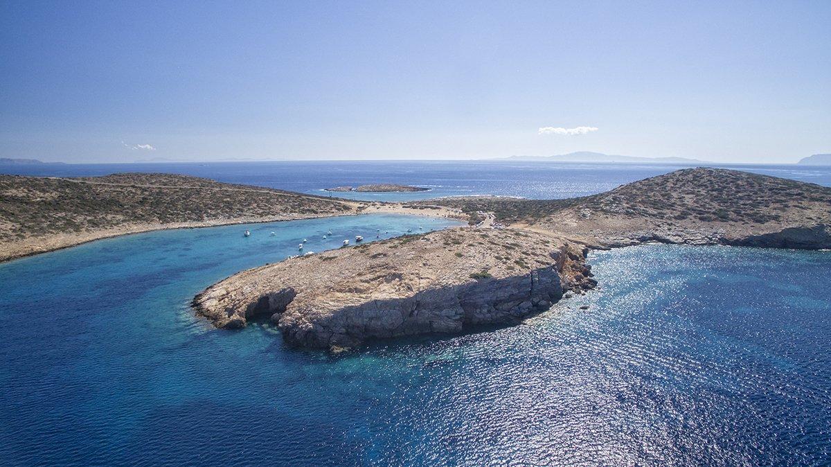 Paradisa strand på Amorgos