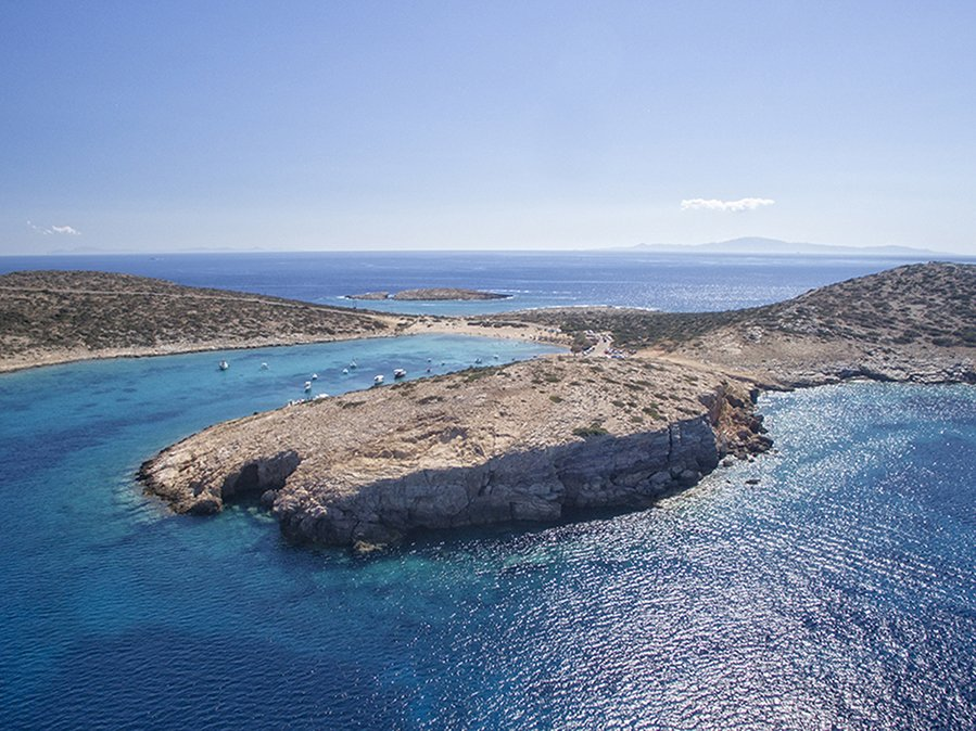 Kalotaritissa strand Amorgos Kyklades Grekland