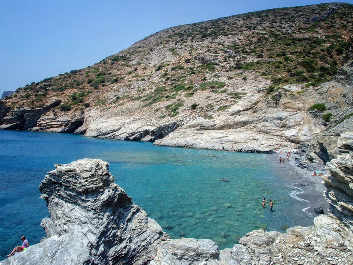 Mouros beach on Amorgos