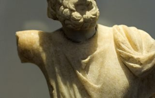The Archaeologica Museum Chora Amorgos Sarapis marble statue 2nd century BC
