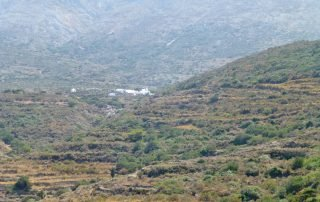 Walking path 4. Melania - View towards Panagia of Epanochoriani