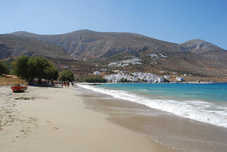 Aegiali Beach on Amorgos