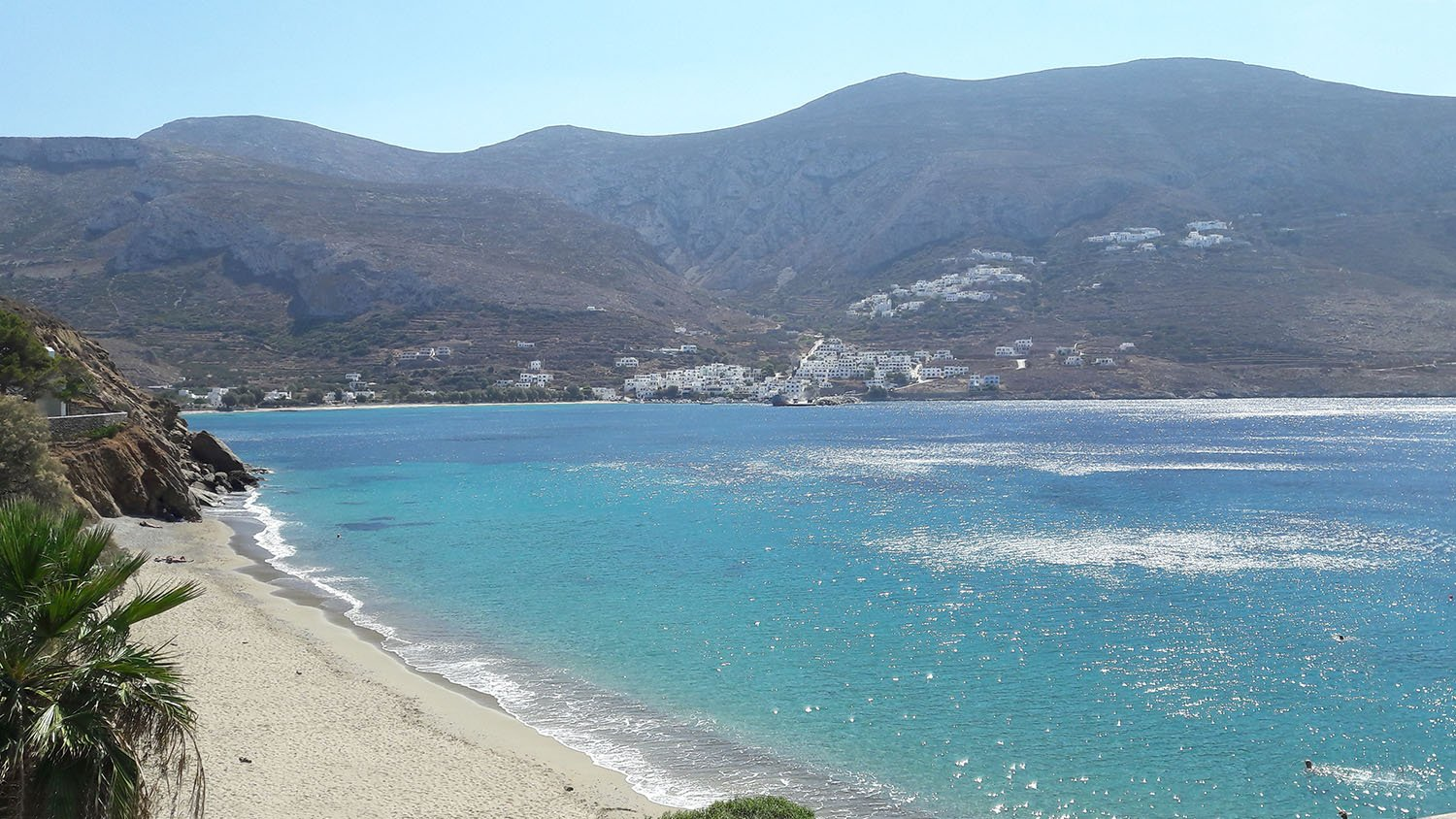 Levrossos beach on Amorgos