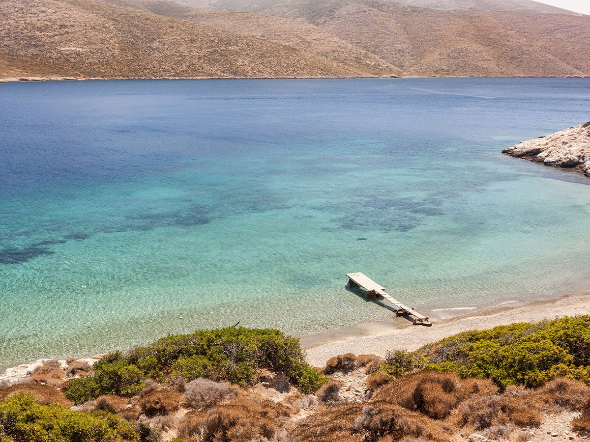Nikoura Beach Amorgos Cyclades Greece