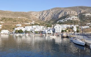 The port of Ormos Aegiali Amorgos