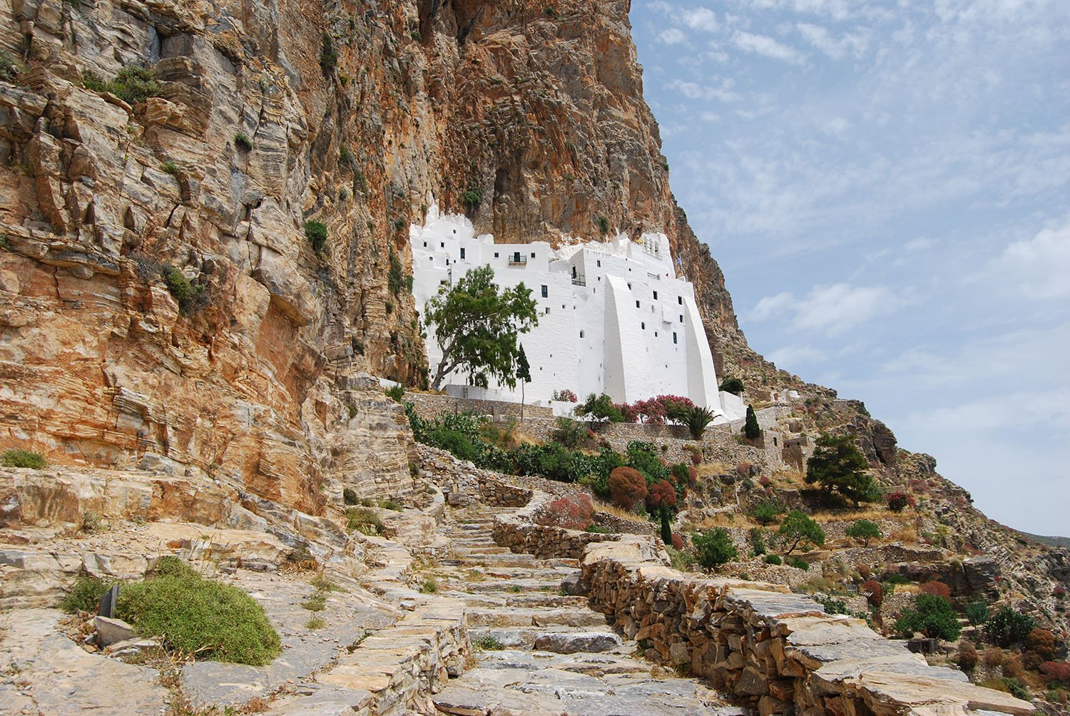 The Monastery of Hozoviotissa on Amorgos