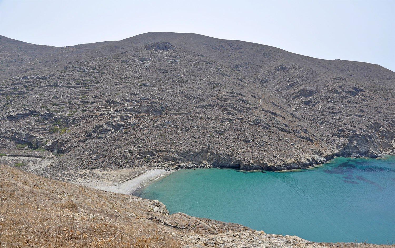 Agioi Saranda strand på Amorgos