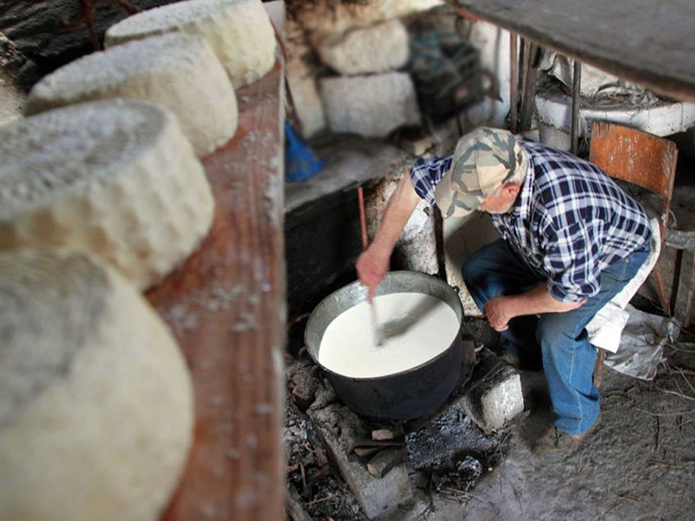 Cheese making on Amorgos