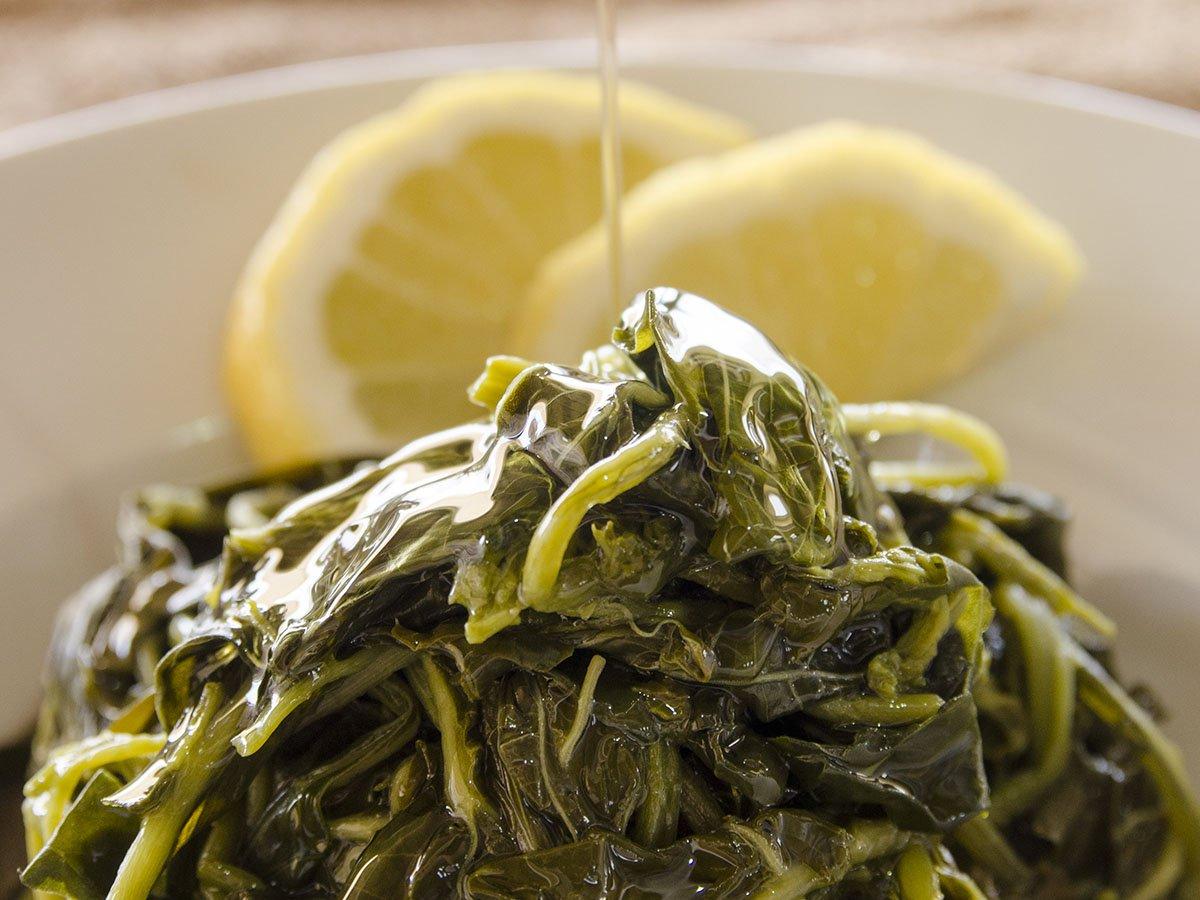 Amorgos Recipes Chorta Mountain greens