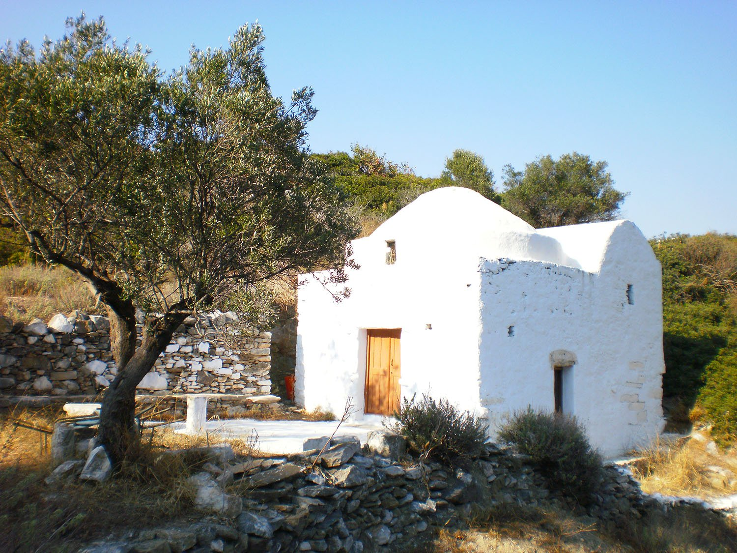 Evangelistria Chapel in Katapola on Amorgos