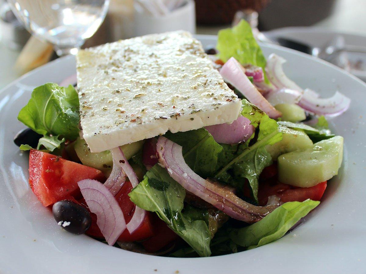 Amorgos Recipes Greek Salad with Feta cheese