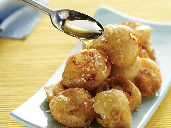 Amorgos RECEPTs - Loukoumades - Honey puffs
