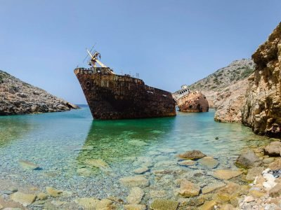 The Shipwreck of Olympia Amorgos Cyclades Greece