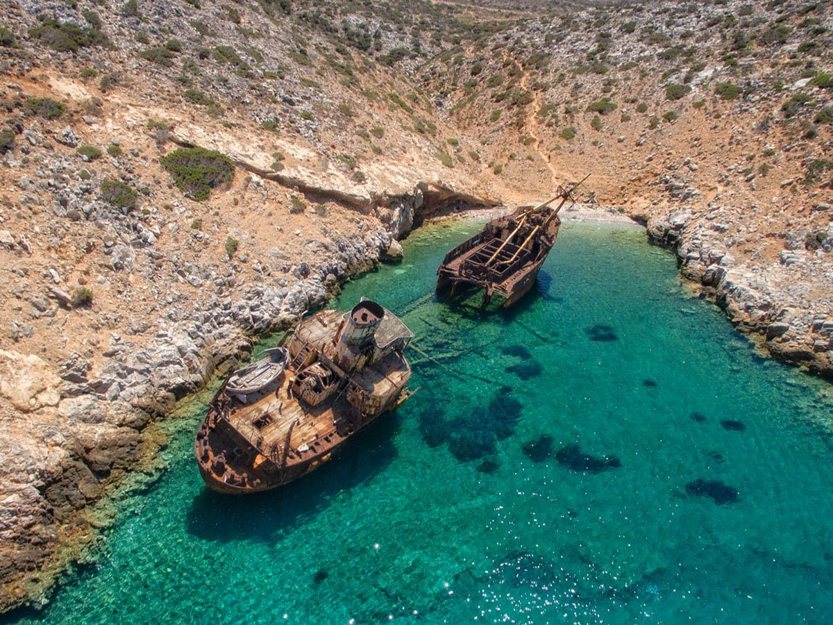 Skeppsvraket Olympia på Amorgos