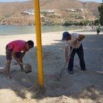Volley Aegiali strand