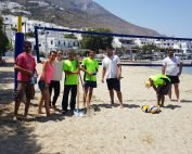 Beach Volley on the beach of Aegiali