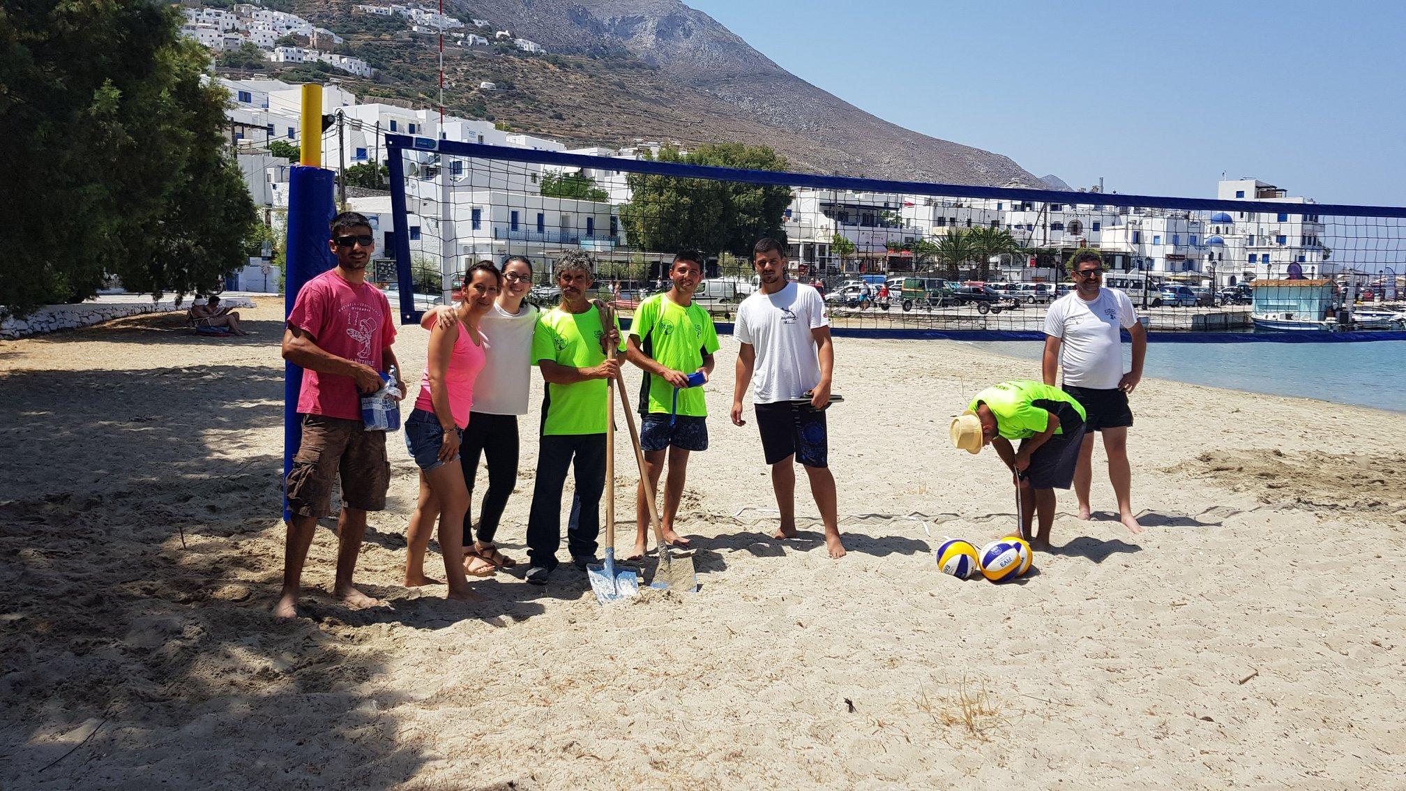 Beach Volley on the beach of Aegiali