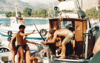 Fishing adventure in the port of Aegiali